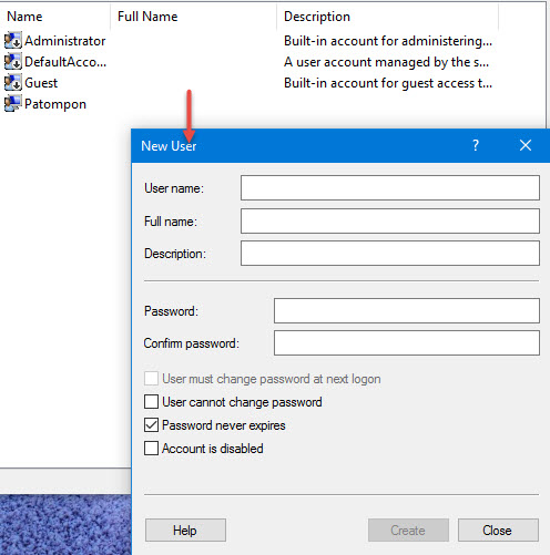 Set user password Windows 10 -5