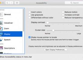 การปรับขนาดของ Cursor Mouse ของ macOS