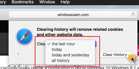 Clear History safari MacOS-2