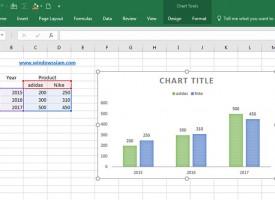 คัดลอกกราฟ จาก Excel ไป Word ในการแสดงรายงาน
