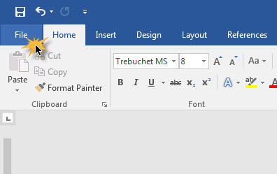 Microsoft Word 2016 Thai language