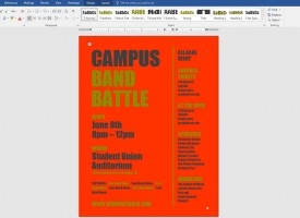 ใส่สีพื้นหลัง Microsoft Word 2016 / 2013