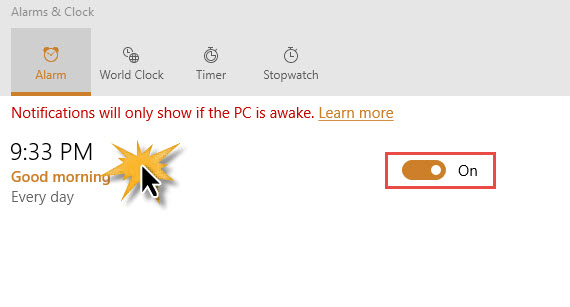 Alarms Clock Windows 10-1