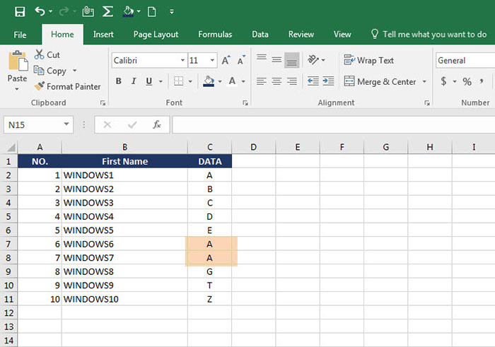 Remove Duplicates data Excel-2