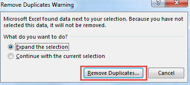 Remove Duplicates data Excel-3
