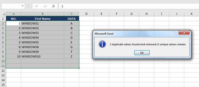 Remove Duplicates data Excel-5