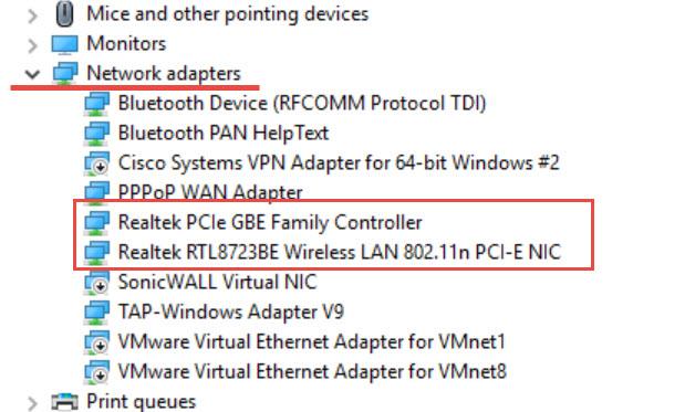 Wireless Windows 10 Devices