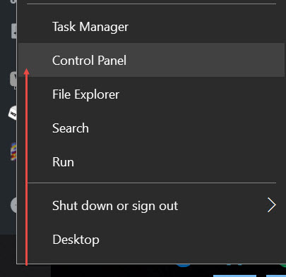 Wireless Windows 10 controlPanel