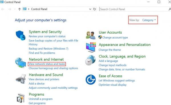 Wireless Windows 10 controlPanel2