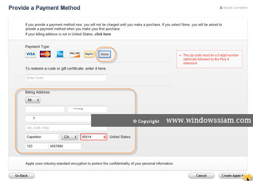 Register Apple ID with iTunes 12 -6