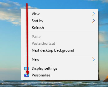 Default App mode Windows 10 Menu