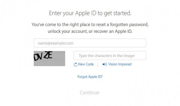 Forgot Apple ID