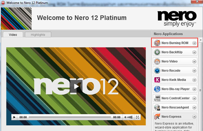Nero Burn ISO File
