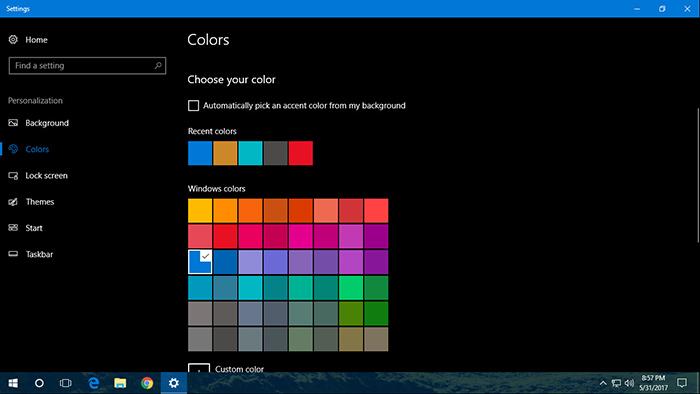 Change Color Surface Windows 10-3