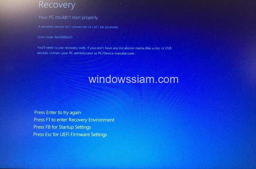 Fix boot Windows 10
