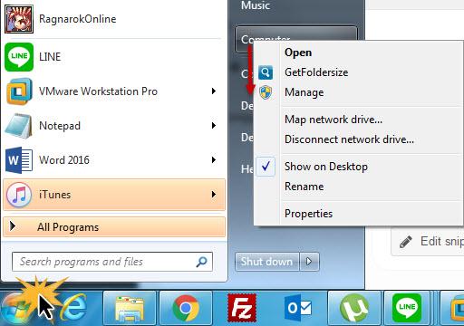 Remove user Account Windows 7