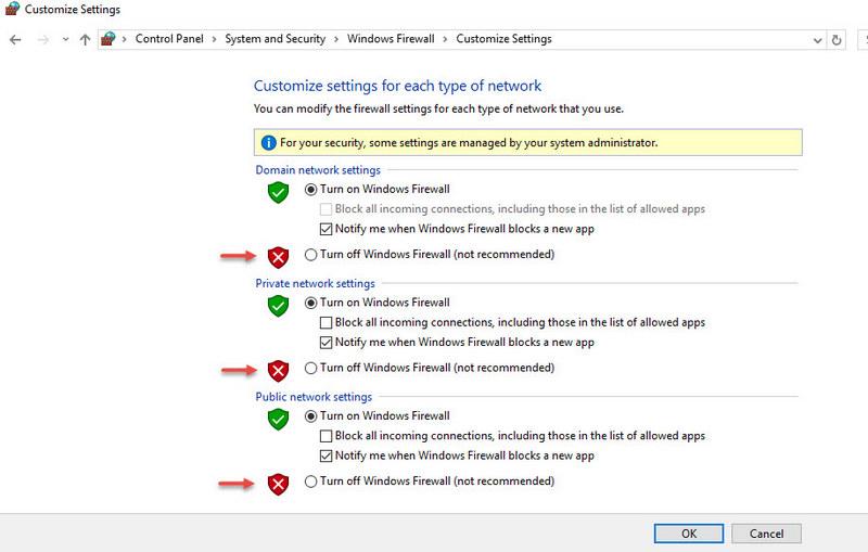 Turn on - off Firewall Windows 10-3