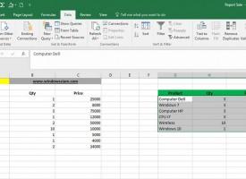 การใช้ฟังก์ชั่น Consolidate Data Excel 2016