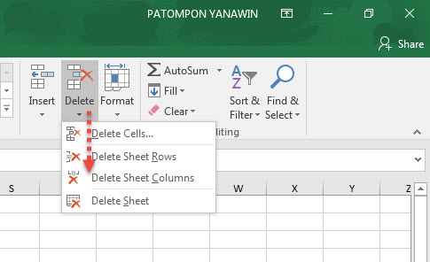 Delete Column Row Excel Blank Data
