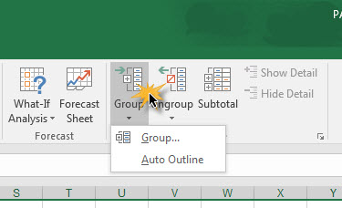 Group Column Row Excel -2
