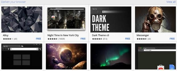 ปรับธีม Google Chrome ในการปรับสีพื้นหลัง
