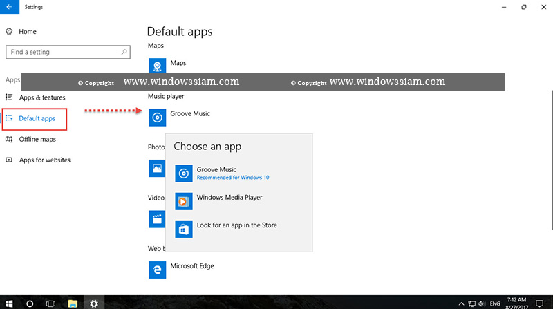 Defaults music player Windows 10-2