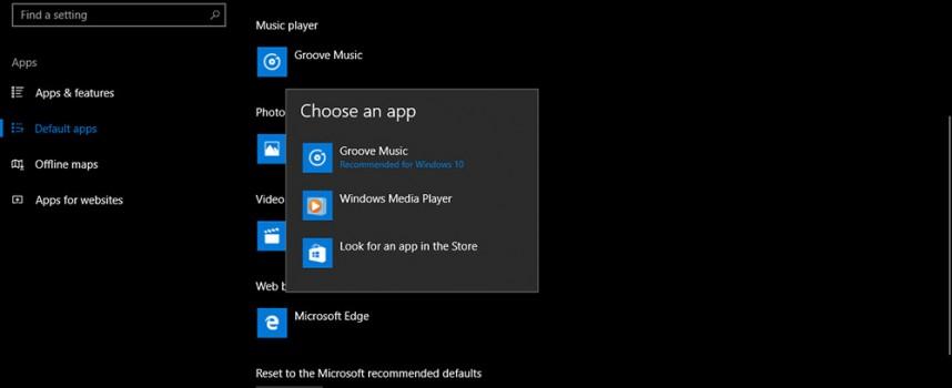 ปรับโปรแกรม Music Player เพลงใน Windows 10