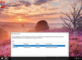 การ Defragment ฮาร์ดดิส Windows 10 จัดเรียงข้อมูล
