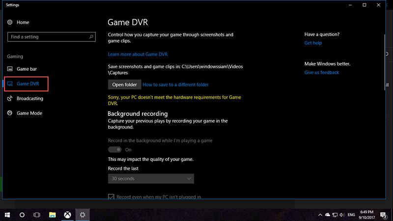 Game DVR Windows 10-2