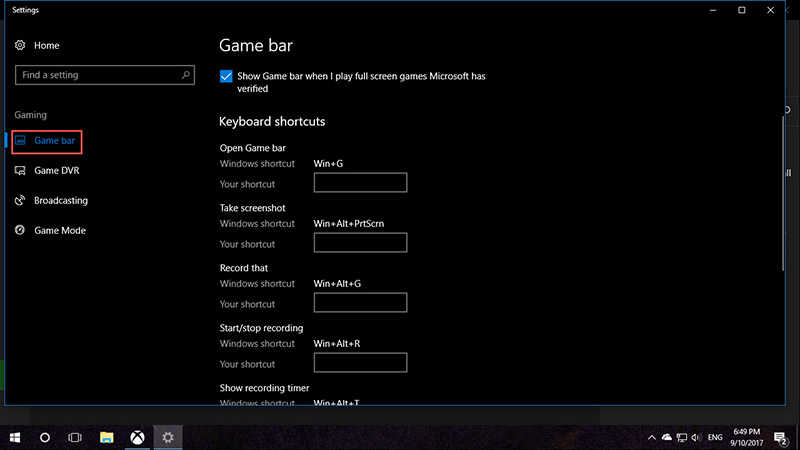 Game DVR Windows 10-3