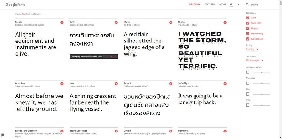 Google Fonts Free Download