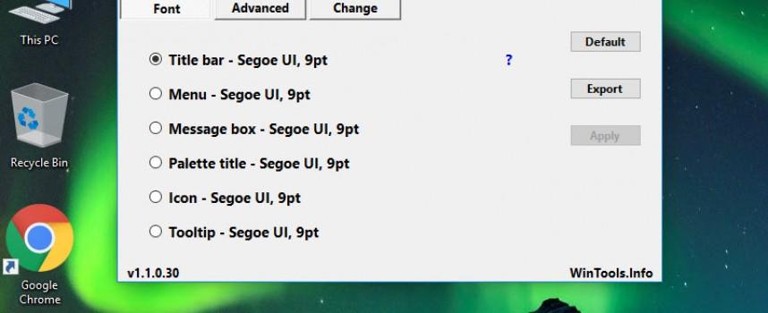 ปรับขนาดไอคอนฟอนต์เล็ก-ใหญ่ Windows 10 Fall Creators Update