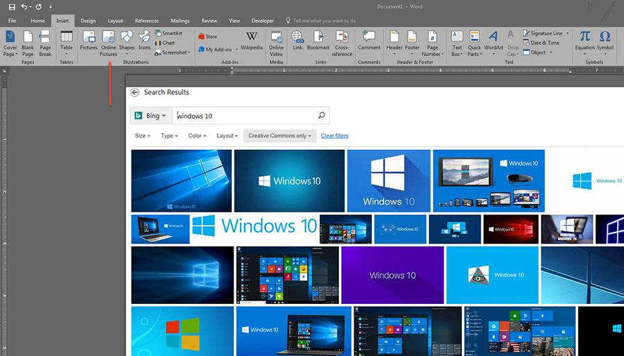 Insert Microsoft Word 2016 -2013-1