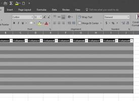 สร้างตาราง Excel 2016 เพียง 2 คลิก