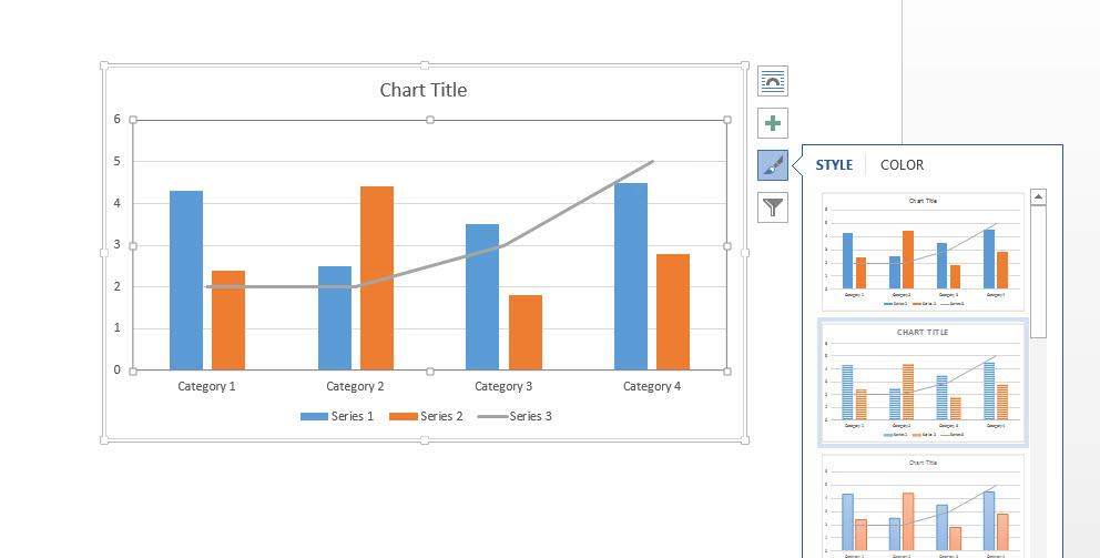 Chart Microsoft Word-5