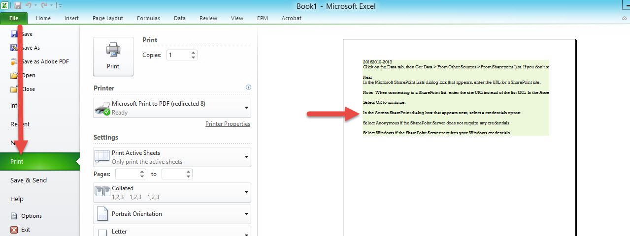 Print Area Excel -4