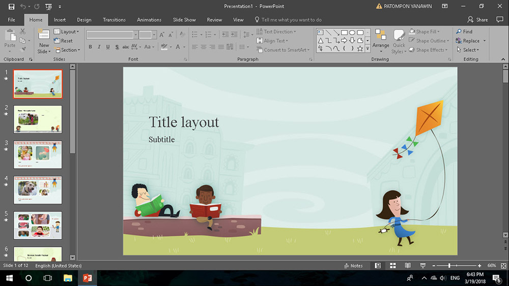 Template PowerPoint 2016-Cover