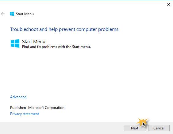 Windows 10 Fix click start-2