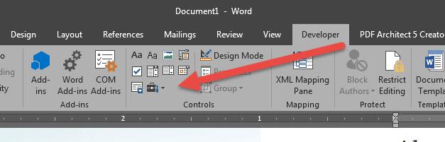 Checkbox Microsoft Word 2016-5