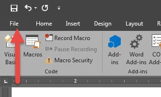 Checkbox Microsoft Word 2016