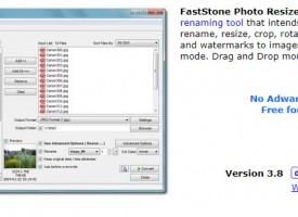 โปรแกรมย่อรูป ใส่ลายน้ำ FastStone Photo Resizer ฟรีๆ