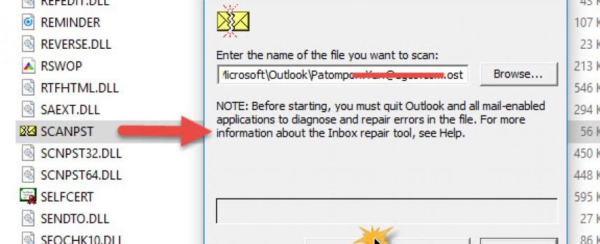 ซ่อมแซม Repair Microsoft Outlook ไฟล์ ( .pst , .ost )