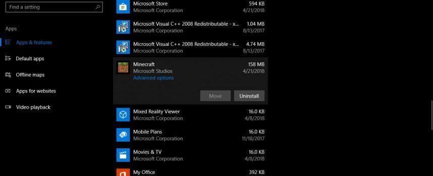 วิธีการลบโปรแกรม Apps Microsoft Store ใน Windows 10