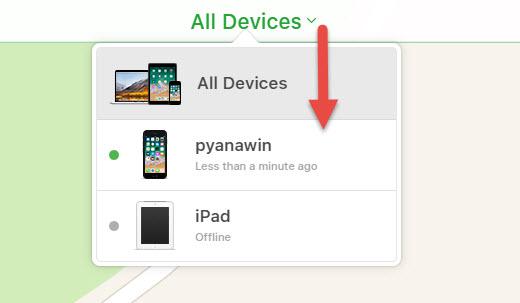 การใช้งาน Find My iPhone -2