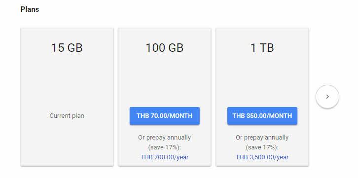 ซื้อพื้นที่เพิ่ม Google Drive