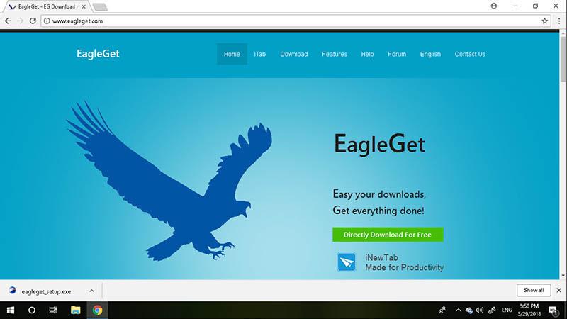 โปรแกรมช่วยดาวน์โหลด EagleGet
