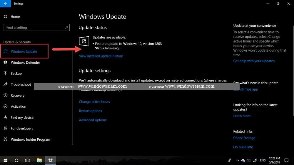 Windows 10 version 1803-3