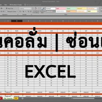 ซ่อนคอลั่ม ซ่อนแถว Excel 2016   2013