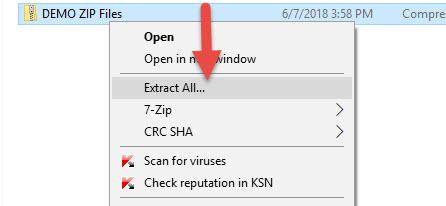 วิธีการ Zip File Windows 10 (ซิปไฟล์)-4