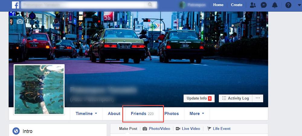 ลบเพื่อน Facebook